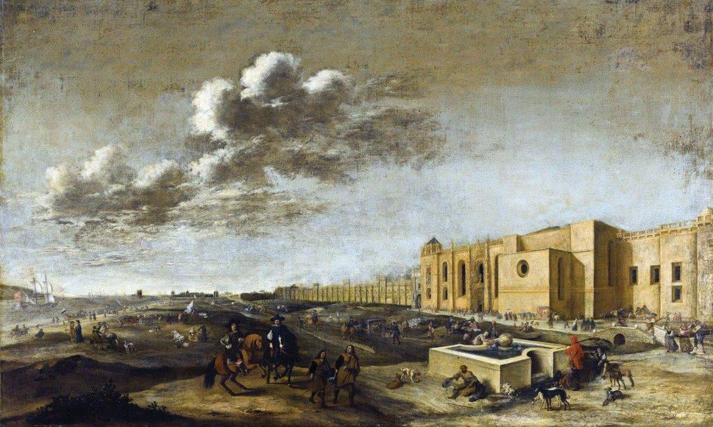 Mosteiro de Santa Maria de Belém (Mosteiro dos Jerônimos) – Dirck Stoop, séc. XVII. Real Galeria de Pinturas de Maurishuits, Haia, Países Baixos.