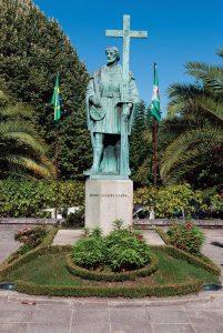 Estátua de Pedro Álvares Cabral, em Belmonte, Portugal