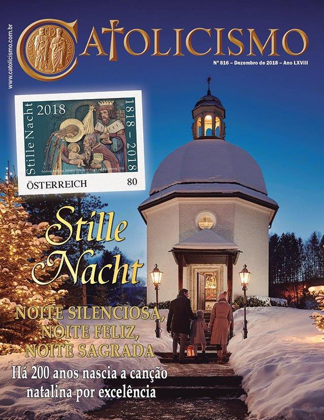 Em Oberndorf, pequena cidade austríaca, a capela construída no lugar da antiga igreja de São Nicolau, onde foi interpretado pela primeira vez o Stille Nacht, e o selo comemorativo do bicentenário da canção.