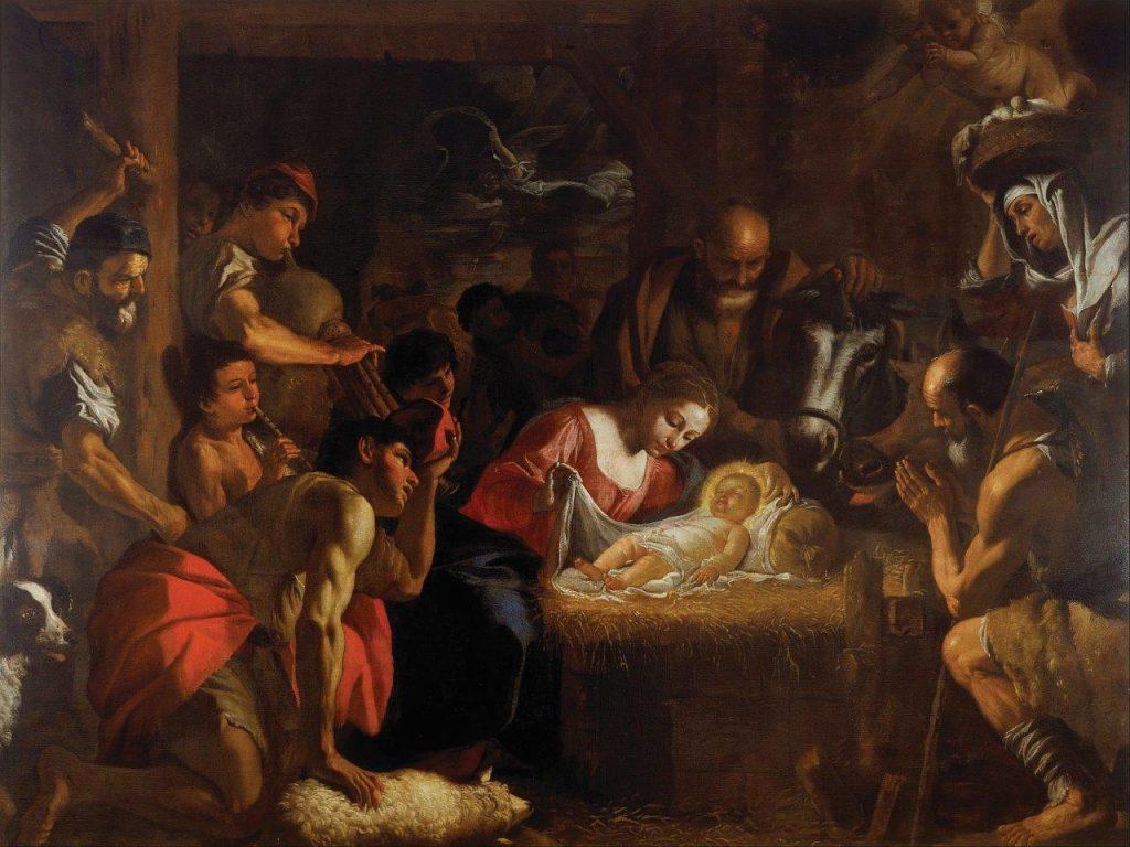 """""""Adoração dos Pastores"""" – Mattia Preti, séc. XVII. Walker Art Gallery, Liverpool, Inglaterra."""