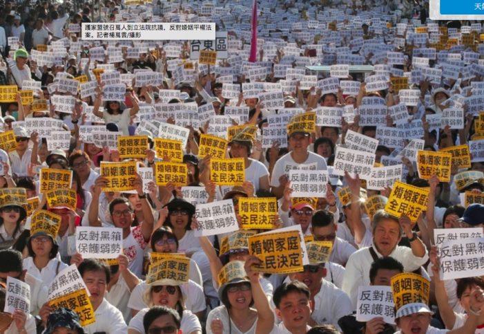 Teoria de gênero e casamento homossexual derrotados em Taiwan