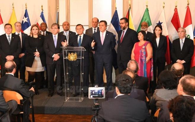 O grupo de Lima, que inclui o Brasil e outros 12 países, reunido no início deste ano na capital peruana