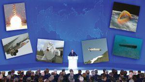 Putin fez uma espalhafatosa apresentação  de novas armas com capacidade  de devastar qualquer alvo no mundo