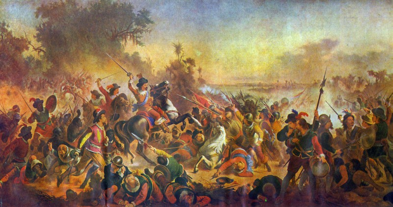 Batalha dos Montes Guararapes - Victor Meirelles, 1879. Museu Nacional de Belas Artes, RJ