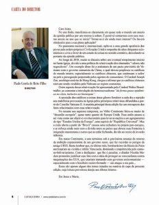 """Última """"Carta do Diretor"""", dirigida aos leitores pelo Dr. Paulo Brito"""