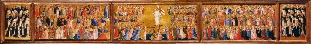 A Igreja Triunfante – Fra Angélico, 1423. National Gallery, Londres.