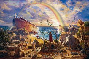 A Arca de Noé, que continha animais puros e impuros (Gn 7, 2; 1 Pd 2, 6; cfr. At 10, 9; 11, 4-18), era também uma imagem e semelhança desta Igreja [militante].