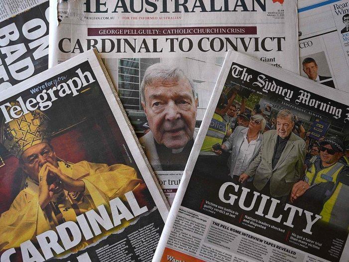 A condenação do cardeal Pell, a Igreja e o mundo