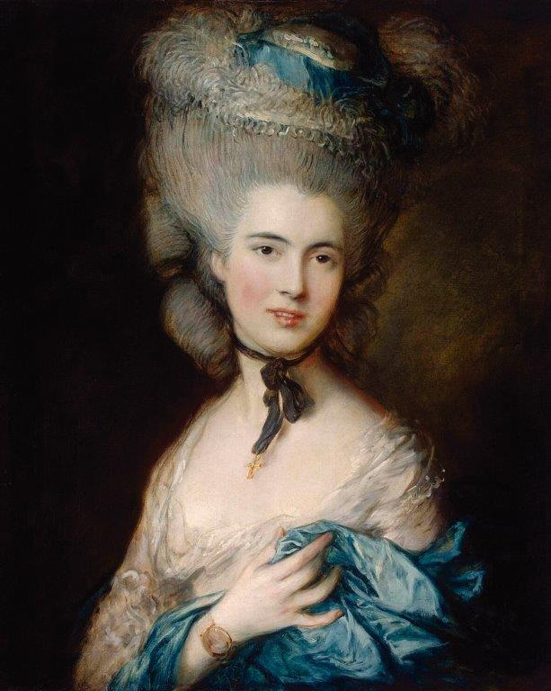 Dama Azul – Thomas Gainsborough  (1727–1788).  Hermitage Museum, São Petersburgo, Rússia