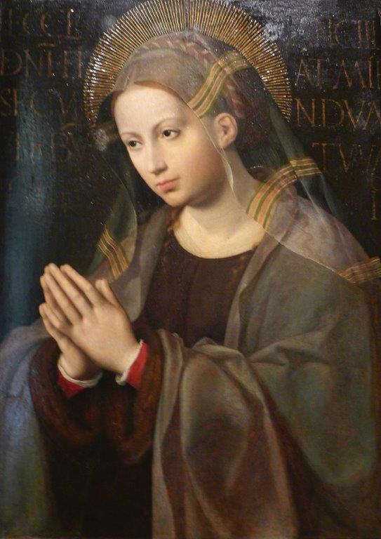 Ecce Ancilla – Cornelis van Cleve, séc. XVI. Museu Nacional de Arte Antiga, Lisboa [Foto PRC]