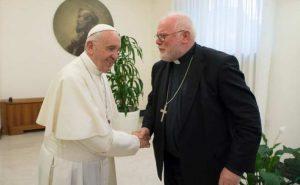 O Cardeal Marx com o Papa Francisco