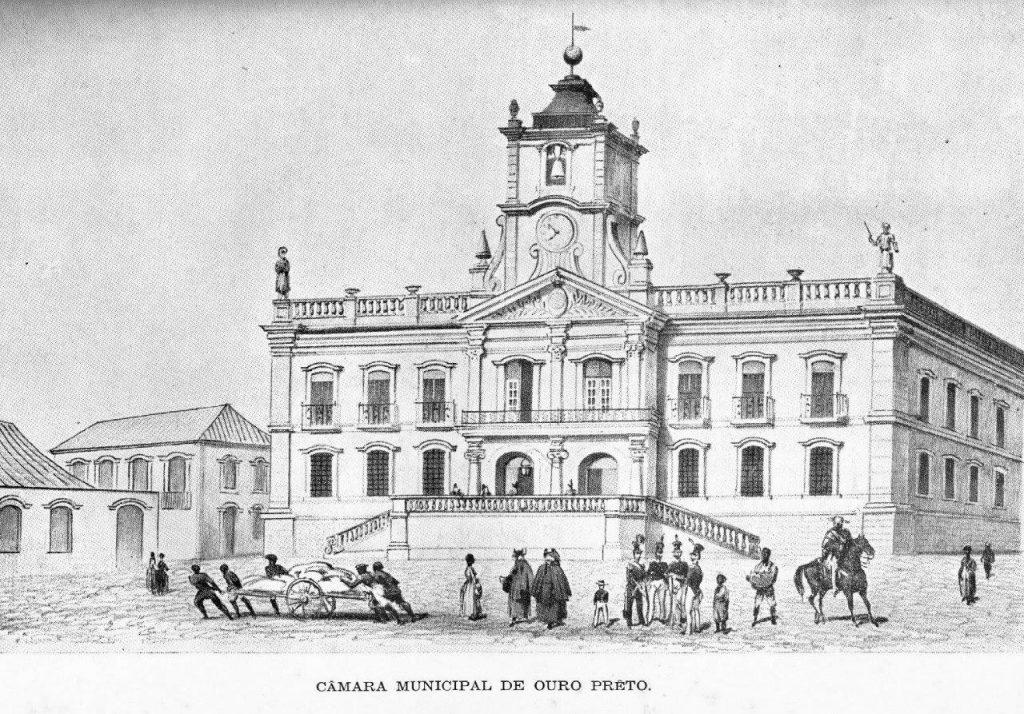 Edifício barroco da Câmara Municipal de Ouro Preto (MG), na época colonial. O governo das Câmaras constituía um privilégio da aristocracia rural.