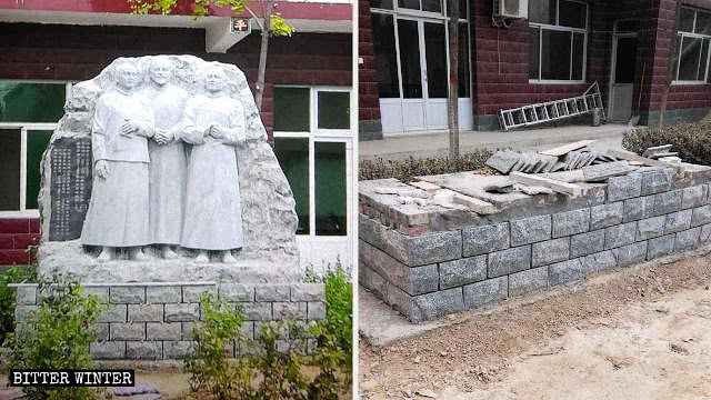 China comunista: destruição de imagens de santos