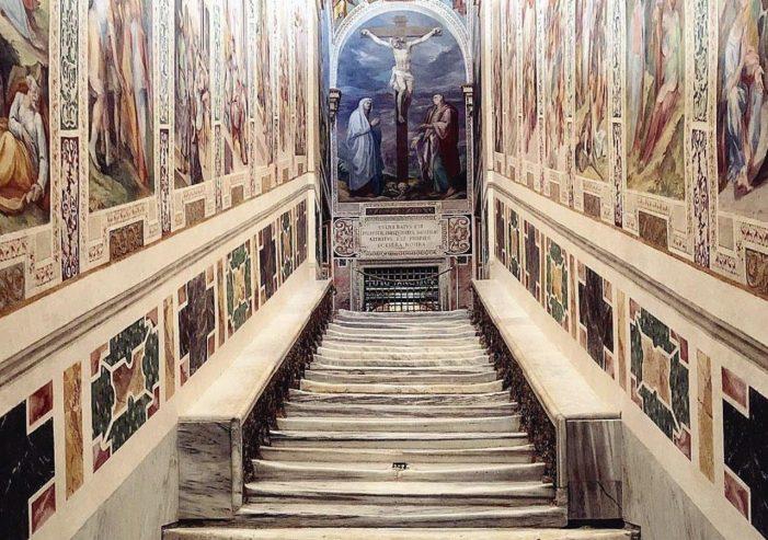 Exposição da Scala Sancta em Roma
