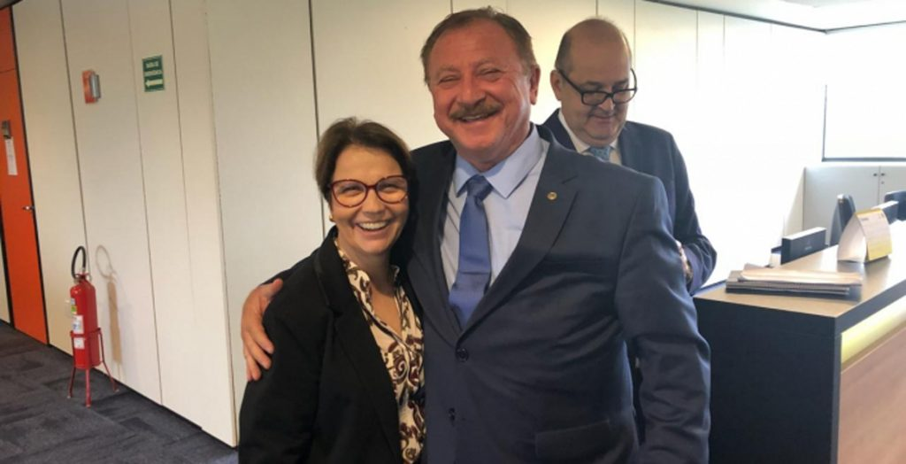 Nabhan Garcia com a Ministra da Agricultura Tereza Cristina