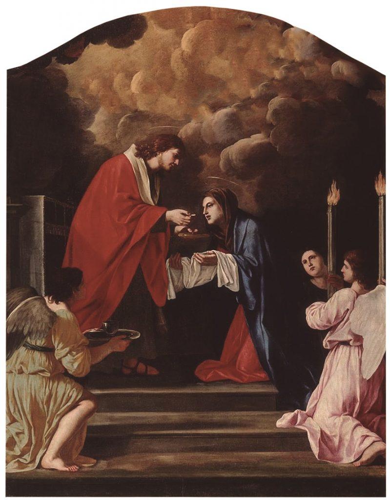 A Comunhão da Virgem - Giacinto Gimignani, séc. XVII. Museu de Belas Artes, Marselha