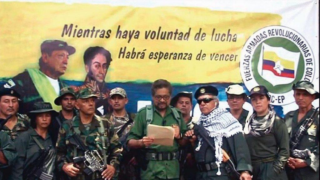 """Líderes guerrilheiros das Farc que romperam o """"processo de paz"""" e voltaram às armas"""