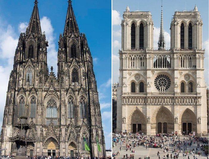Elevação de espírito diante de duas catedrais