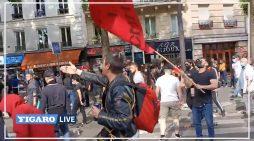 Esquerdistas atacam procissão na França