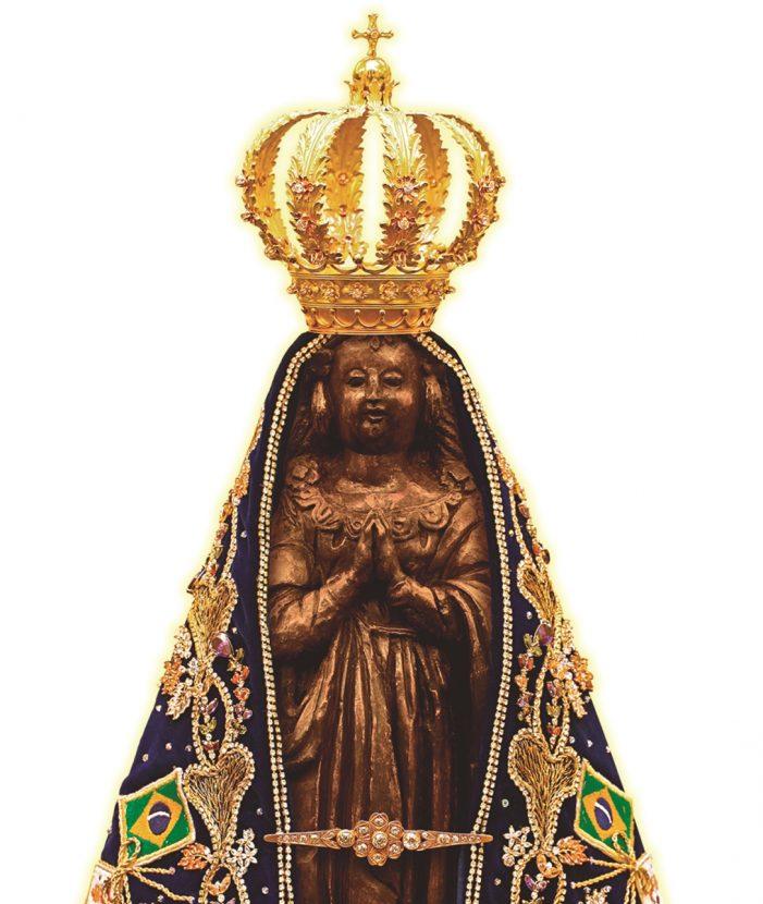 Nossa Senhora Aparecida no ano do 90º aniversário de sua proclamação como Padroeira do Brasil